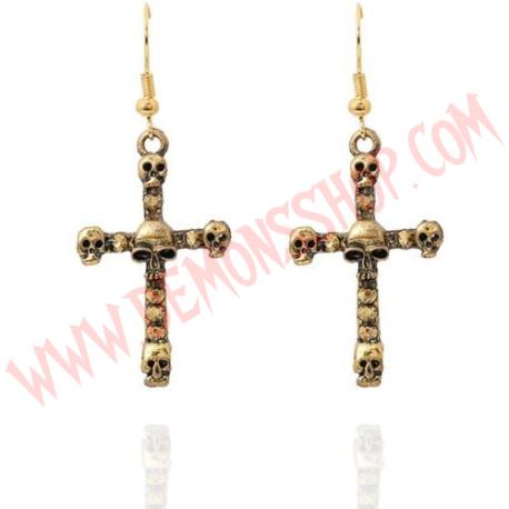 Pendientes Skull Cross