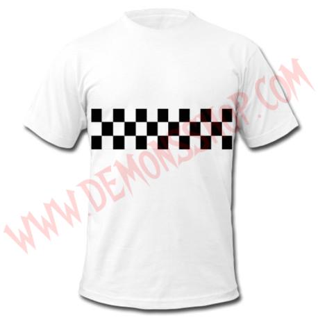 Camiseta MC SKA Damero (Blanca)