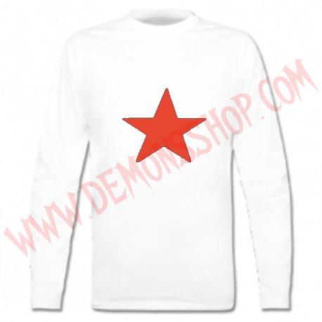 Camiseta ML Estrella Roja (Blanca)