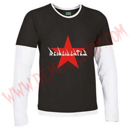 Camiseta ML Reincidentes (Negra manga Blanca)