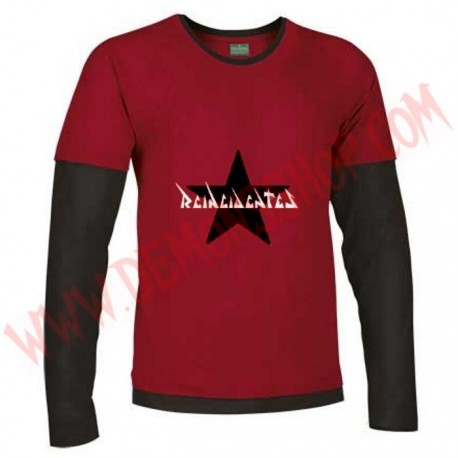 Camiseta ML Reincidentes (Roja manga Negra)