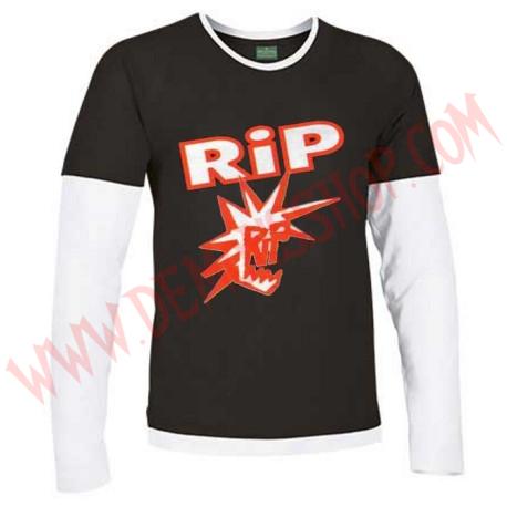 Camiseta ML RIP (Negra manga Blanca)