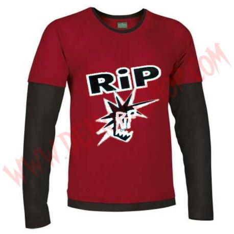 Camiseta ML RIP (Roja manga Negra)