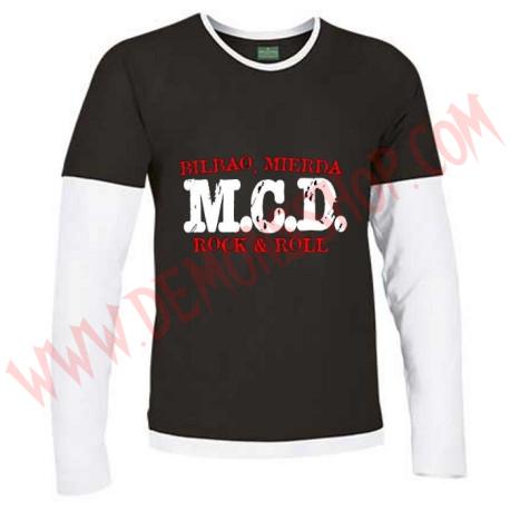 Camiseta ML MCD (Negro manga Blanca)