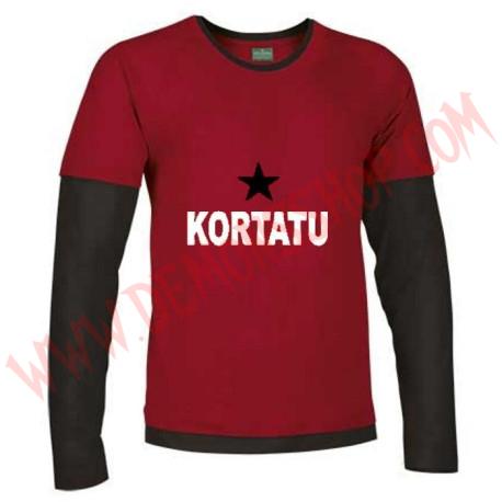 Camiseta ML Kortatu (Roja manga Negra)