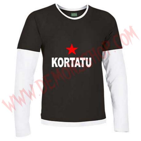 Camiseta ML Kortatu (Negra manga Blanca)