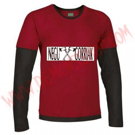 Camiseta ML Negu Gorriak (Roja manga Negra)