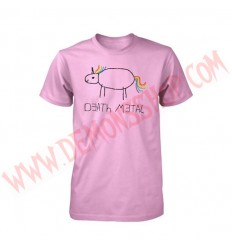 Camiseta MC Death metal Unicorn Pink