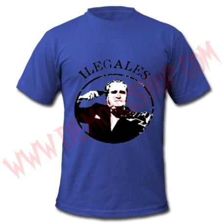 Camiseta MC Ilegales (Azul)