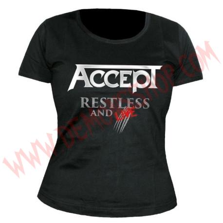 Camiseta Chica MC Accept