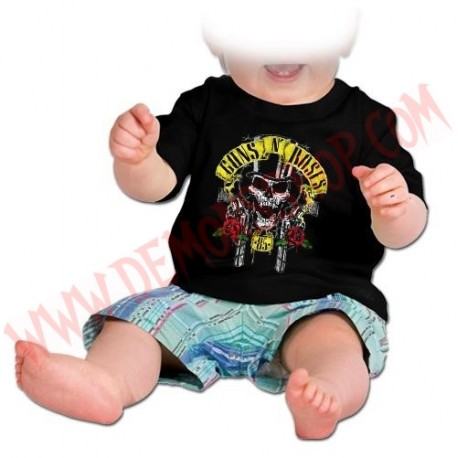 Camiseta Bebe Negra MC Guns N Roses