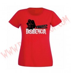Camiseta Chica MC Disidencia (Roja)