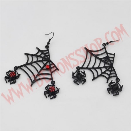 Pendientes Red Web Spider