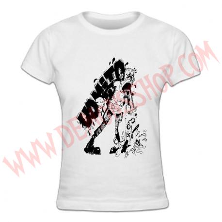 Camiseta Chica MC Vomito (Blanca)