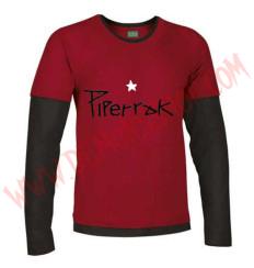 Camiseta ML Piperrak (Roja manga Negra)