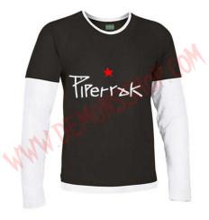 Camiseta ML Piperrak (Negra manga Blanca)