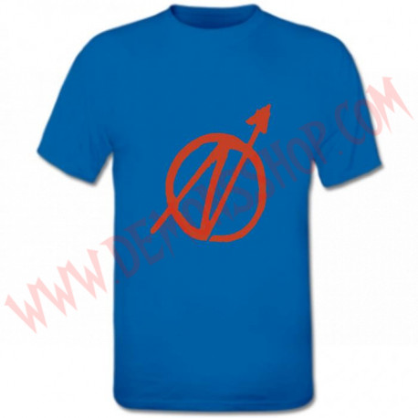 Camiseta MC Okupa (Azul)