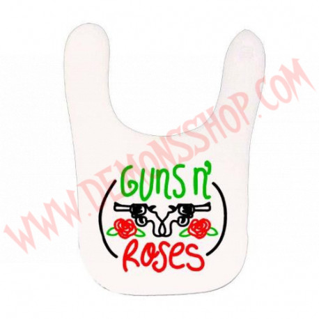 Babero Guns N Roses (Blanco)