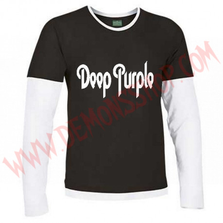 Camiseta ML Deep Purple (Negra Manga Blanca)