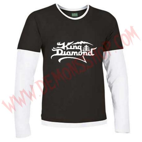 Camiseta ML King Diamond (Negra Manga Blanca)