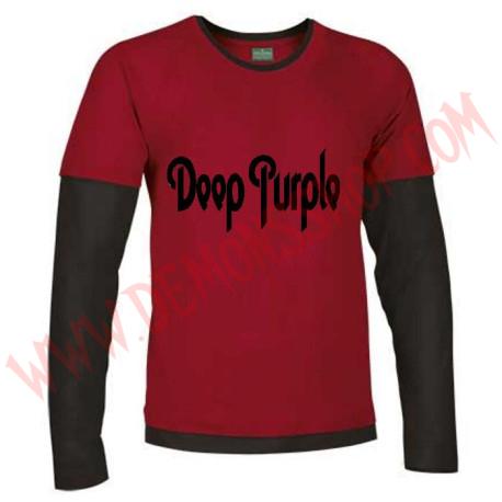 Camiseta ML Deep Purple (Roja Manga Negra)