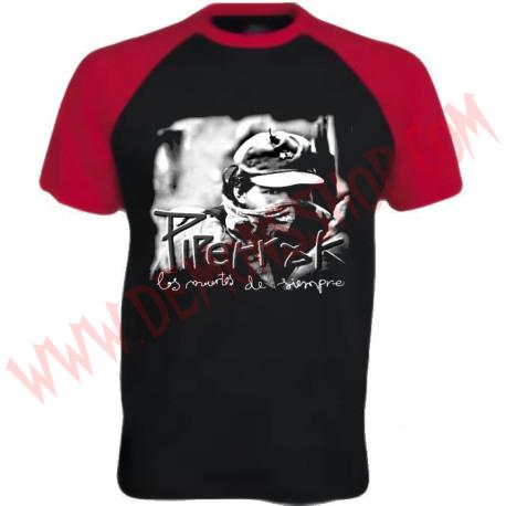 Camiseta MC Piperrak (Raglan mangas rojas)