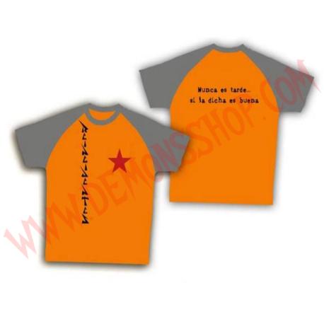 Camiseta MC Reincidentes (Raglan naranja)
