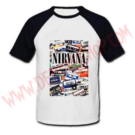 Camiseta Raglan MC Nirvana