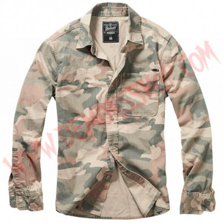 Camisa ML Josh Shirt camo Light Woodland