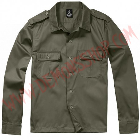 Camisa ML US Hemd 1/1 Arm Olive