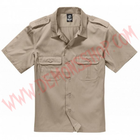 Camisa MC US Hemd 1/2 Arm Beige
