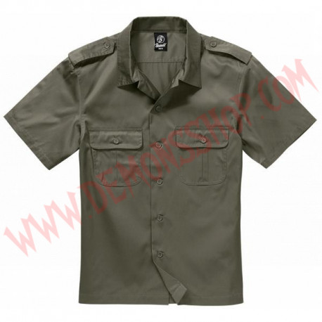 Camisa MC US Hemd 1/2 Arm Olive