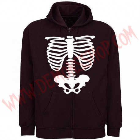Sudadera Cremallera Esqueleto