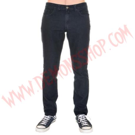 Pantalon Elastico Pitillo Stonewash Azul