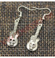 Pendientes Guitarra Calavera