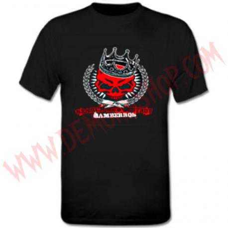 Camiseta MC Gamberros Calavera Roja