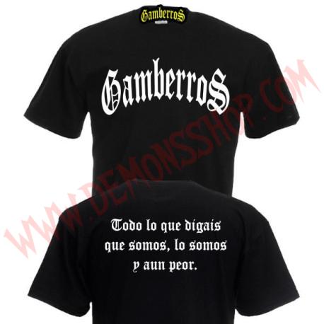 Camiseta MC Gamberros Clasica (Negra)