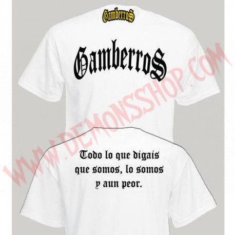 Camiseta MC Gamberros Clasica (Blanca)