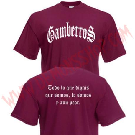 Camiseta MC Gamberros Clasica (Granate)