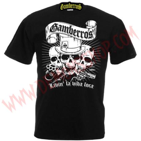 Camiseta MC Gamberros Livin la vida loca negra