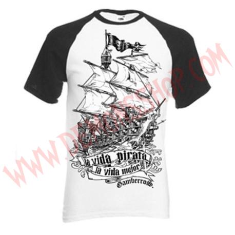 Camiseta MC Gamberros La vida pirata, la vida mejor