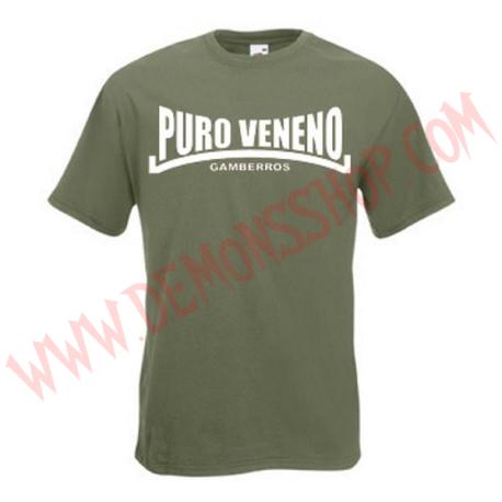 Camiseta MC Gamberros Puro veneno (verde)
