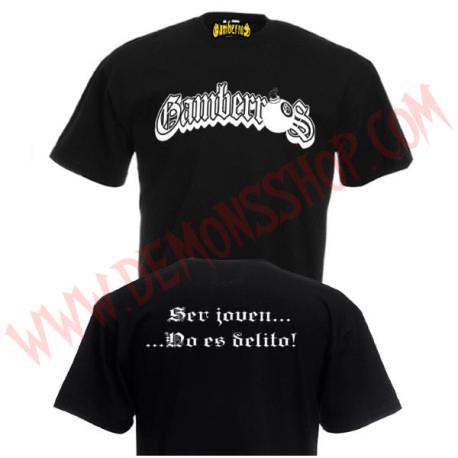 Camiseta MC Gamberros Ser joven no es delito