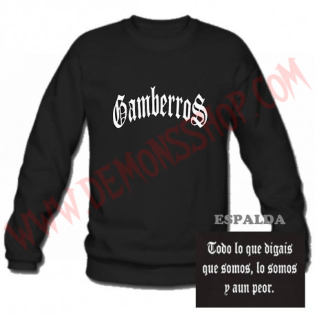 Sudadera Gamberros Clásica Sin Capucha (negra)