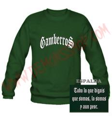 Sudadera Gamberros Clásica Sin Capucha (Verde)