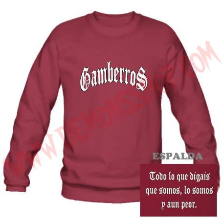 Sudadera Gamberros Clásica Sin Capucha (Granate)