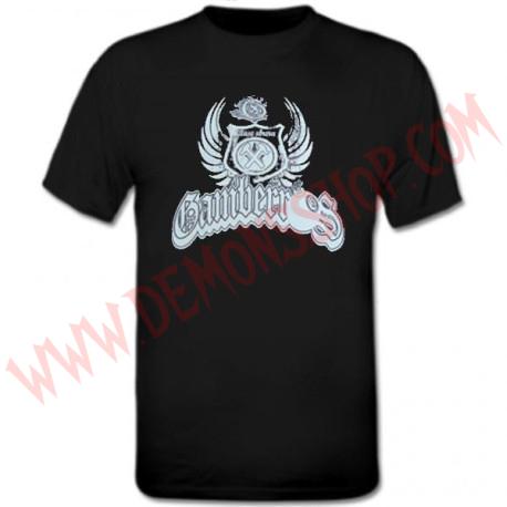 Camiseta MC Gamberros Escudo Clase obrera (negra)