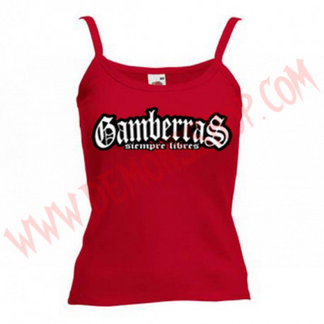 Camiseta Tirantes Chica Gamberras Siempre libre (rojo)