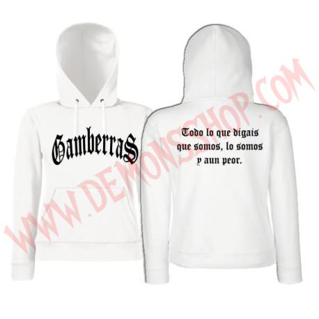 Sudadera Chica Gamberras Clasica (blanca)