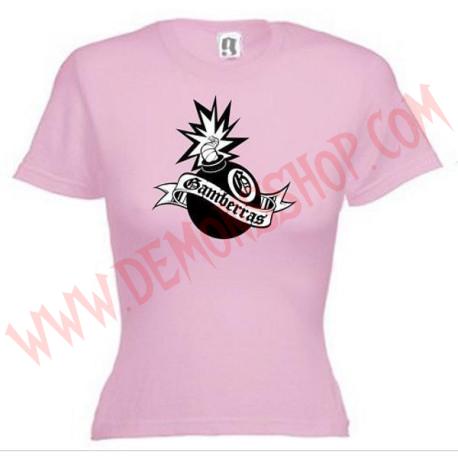 Camiseta MC Chica Gamberras Bomba (Rosa)